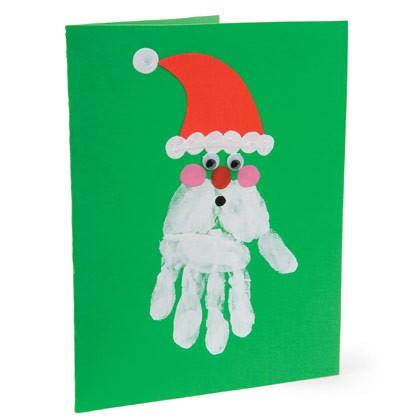 santa hand card