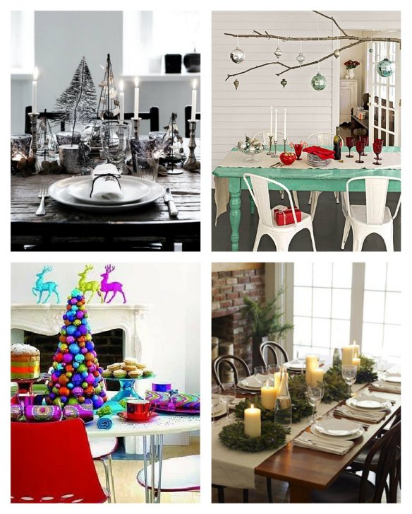 xmas table settings collage