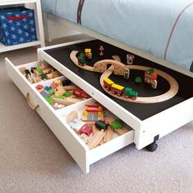 playroom train storage