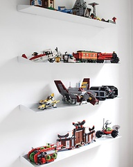 lego white shelves side