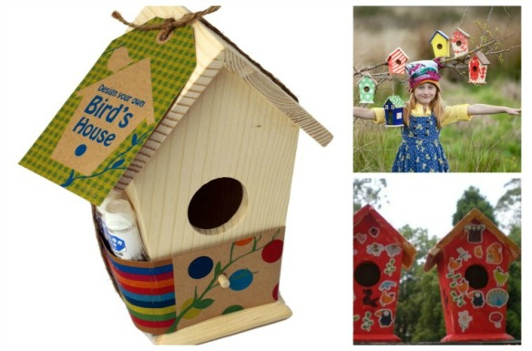 bird house collage